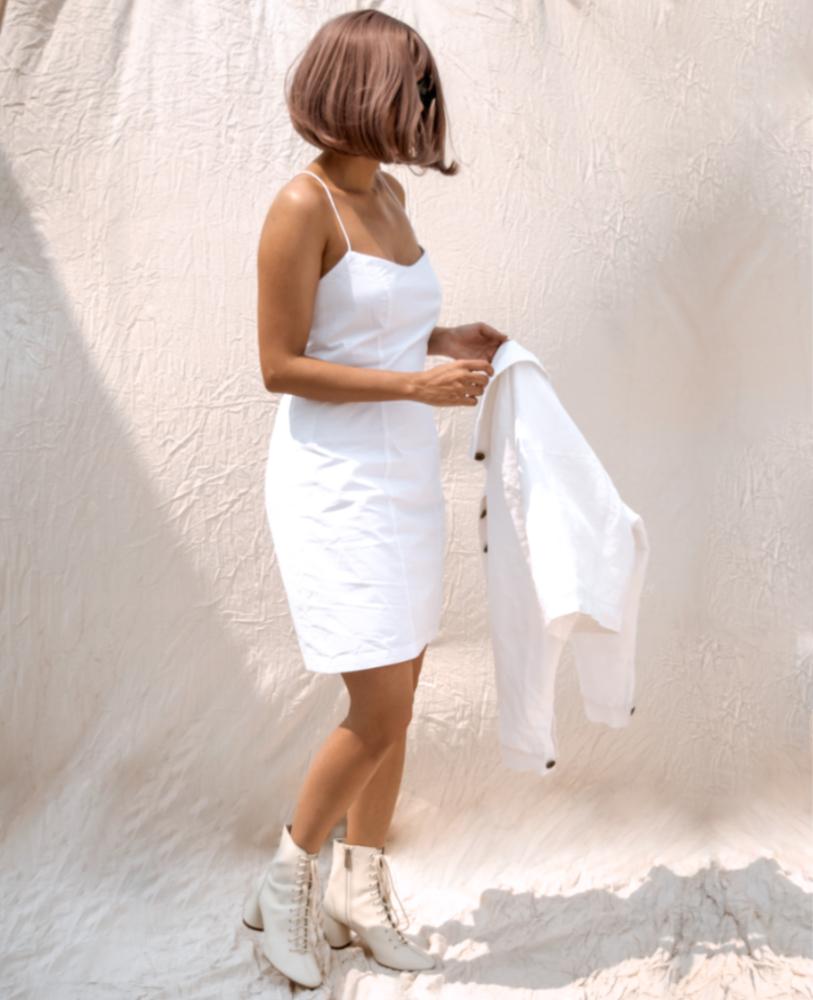 Bianca Cotton Mini Dress by karynmartin.com